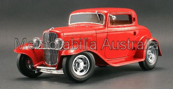 1:18 3 Window 32 Ford Roadster Red