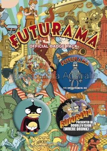 Futurama Button Badge Pack