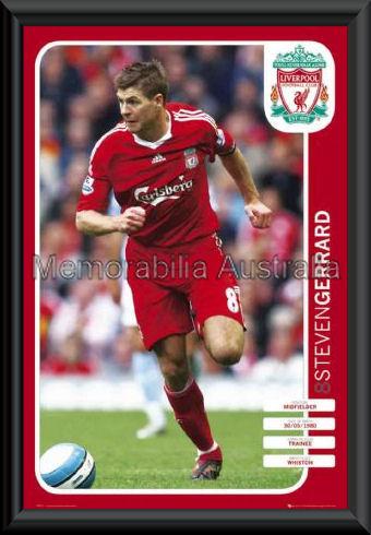 Steven Gerrard Liverpool Poster Framed