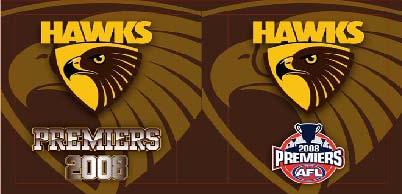 2008 Hawks Premiership Logo Cooler