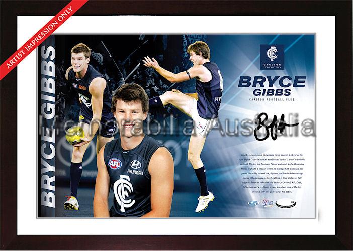 Bryce Gibbs Signed AFL Starshot