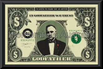 Godfather Dollar Poster Framed