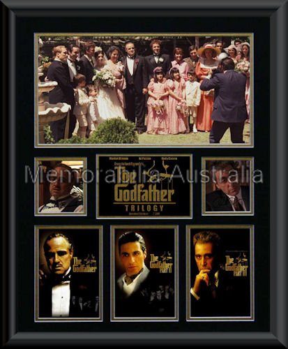 Godfather Trilogy LE Photo Mat Framed