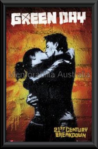 Green Day 21st Century Poster Framed