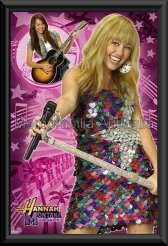 Hannah Montana Poster Framed