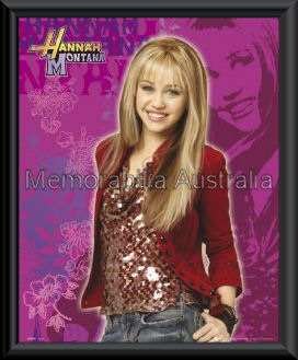Hannah Montana Mini Poster Framed