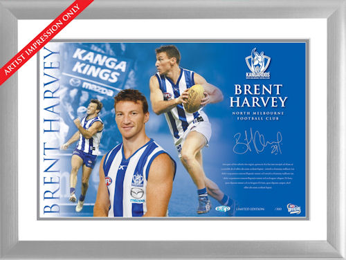 Brent Harvey Framed Signed Starshot