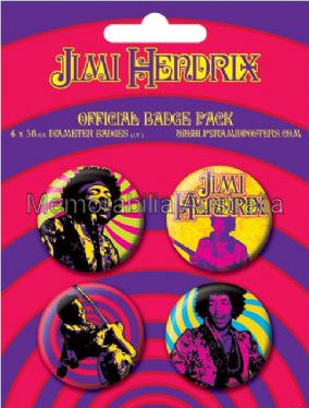 Jimi Hendrix Button Badge Pack
