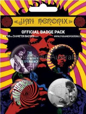 Jimi Hendrix Button Badge Pack