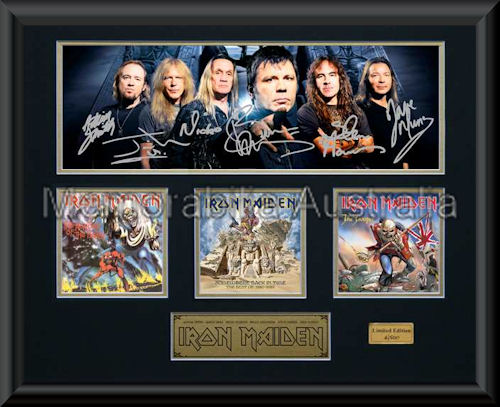 Iron Maiden LE Montage Mat Framed