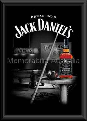 Jack Daniels Pool Poster Framed
