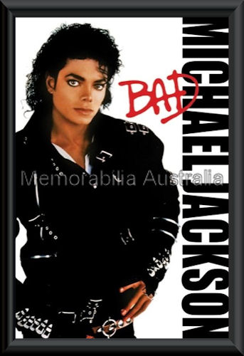 Michael Jackson Bad Poster Framed