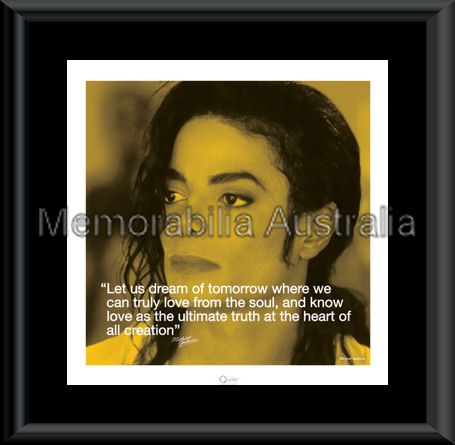 Michael Jackson Quote Art Framed