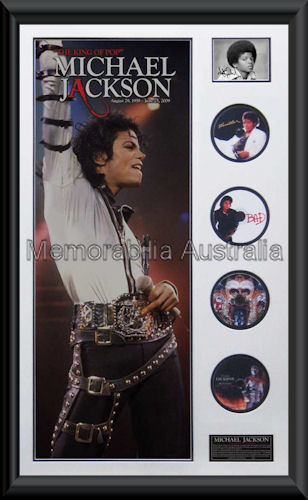 Michael Jackson Montage CD Mat Framed