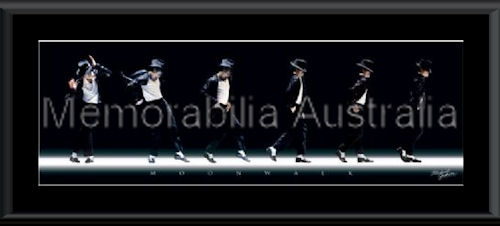 Michael Jackson Slim Moonwalk Framed