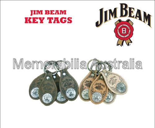 Jim Beam Leather Keytags