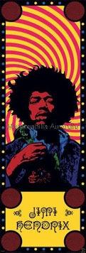 Jimi Hendrix Door Poster