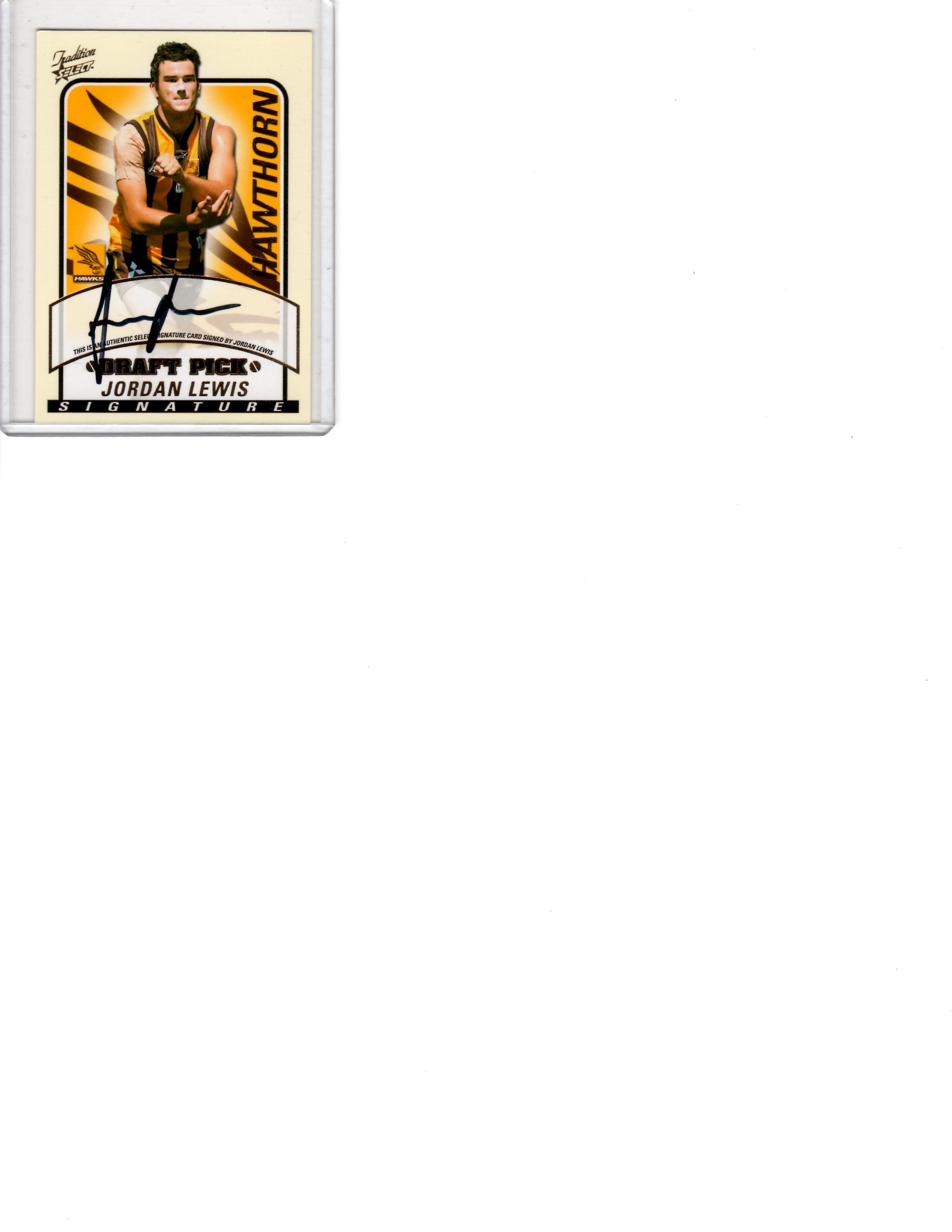 Jordan Lewis 05 Draft Pick sig card
