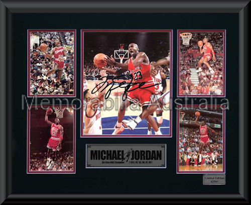 Michael Jordan LE Montage Mat Framed :: NBA :: Basketball :: Sports ...