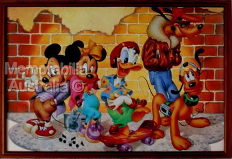 Disney Characters Framed Poster