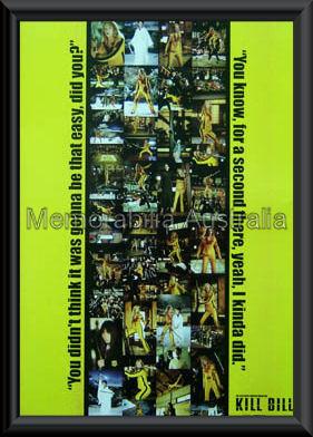 Kill Bill Movie Poster Framed