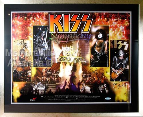 KISS Symphony Signed Print