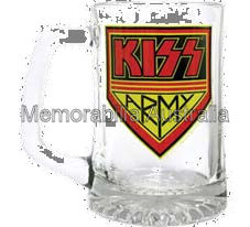 KISS Army Glass Handled Stein