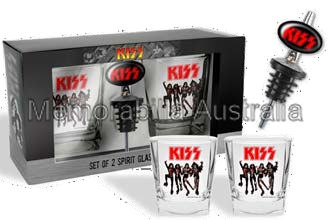 Kiss Destroyer Glasses with Pourer