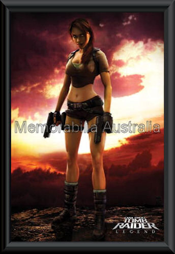 Lara Croft Poster Framed