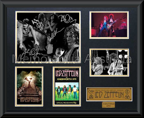 Led Zeppelin LE Montage Mat Framed