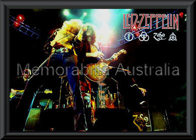 Led Zeppelin Band Poster Framed