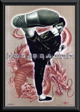 Bruce Lee Dragon Poster Framed