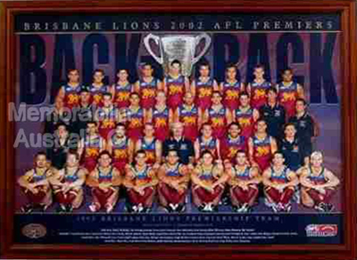 Brisbane Lions Back to Back Framed Print