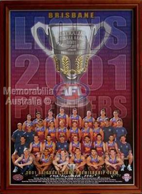 2001 Brisbane Lions Victory Poster