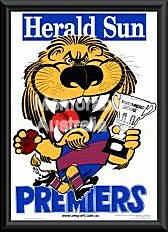 Brisbane Lions 2002 Framed WEG poster