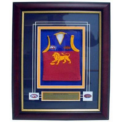 Brisbane Lions Framed Mini Jersey