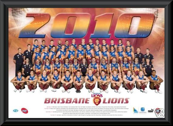 Brisbane Lions 2010 AFL Team Frame