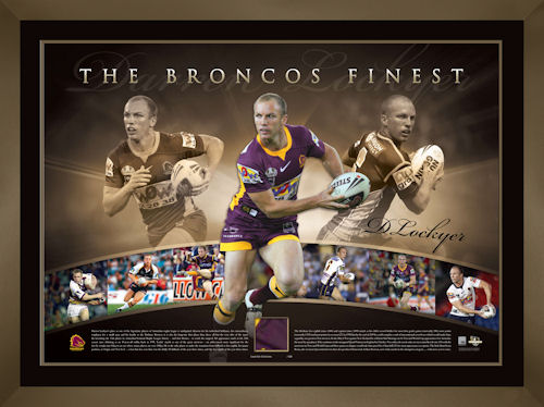 Darren Lockyer Signed Broncos Finest