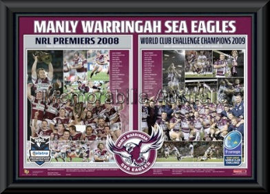 Manly Premiers Challenge Winners Framed