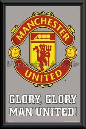 Manchester Utd Glory Poster Framed