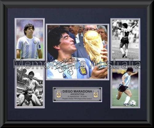 Maradona LE Photo Montage Framed
