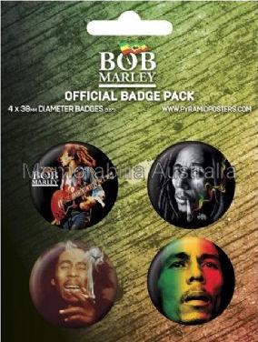 Bob Marley Button Badge Pack