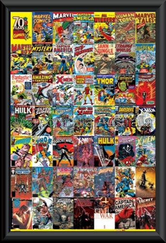 Marvel 70 Years Poster Framed