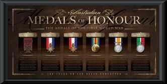 Medals of Honour featuring replica medallions