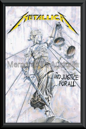 Metallica No Justice Poster Framed