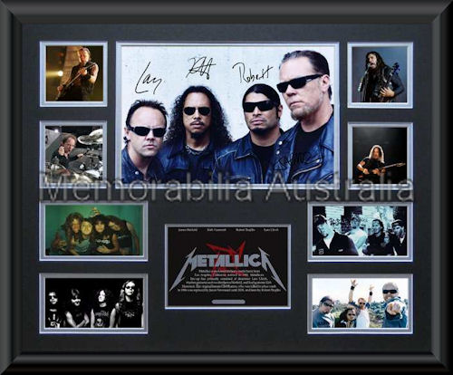 Metallica LE Montage Mat Framed