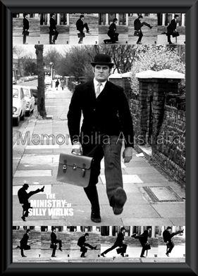 Monty Python Silly Walks Poster Framed