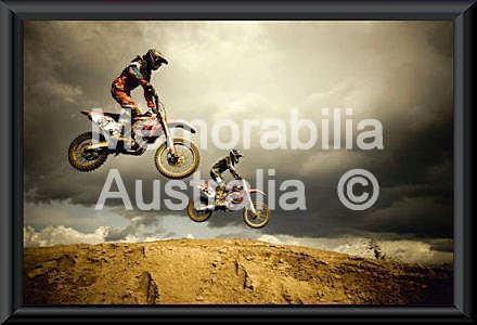 Motocross Big Air Framed Print