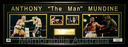 Anthony Mundine Four Photo Collection