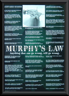 Murphys Law Poster Framed